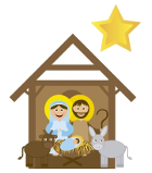 christmas scene for crib service