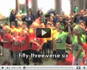 Video of Kids having a great time singing a Children's Bible Song - '53v6'