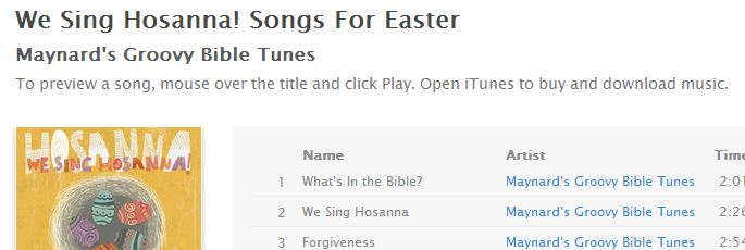 We Sing Hosanna is on iTunes