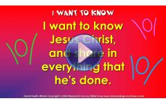"""""""I want to know (Jesus Christ)"""" Video File - Full track version"""